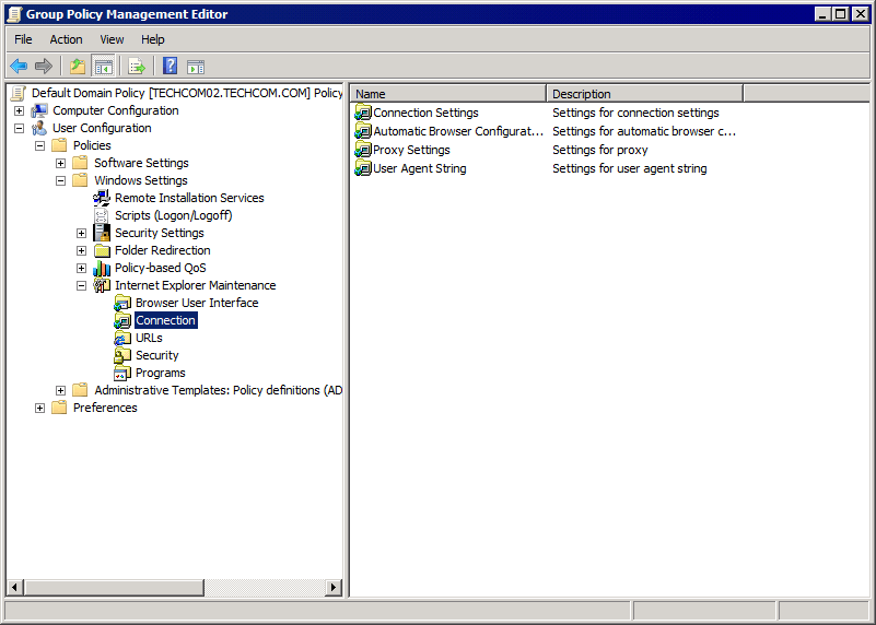 The Group Policy Editor main page