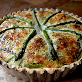 The Way the French Do It ~ Asparagus & Mushroom Quiche
