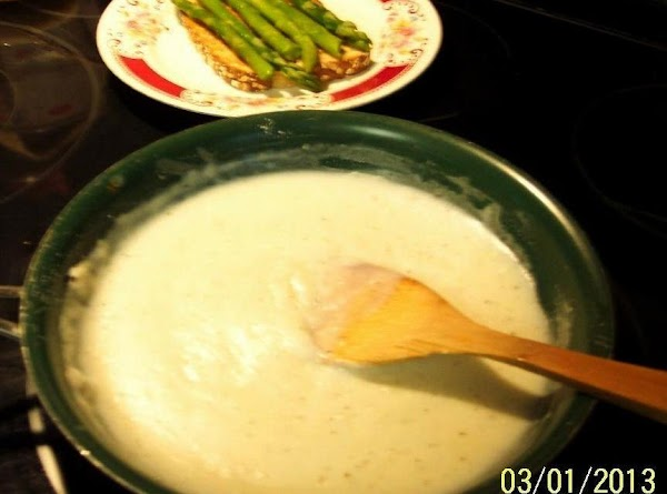 Stir untill well blended. Remove from heat. Gradually stir in milk and return to heat. Cook ..stirring...