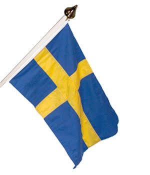 Sverige fasadflagga (30 - 150 cm)
