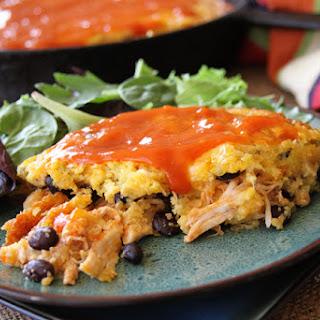 Chicken Enchilada Cornbread Casserole