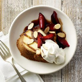 Grilled Pound Cake with Brandied Red Plums.