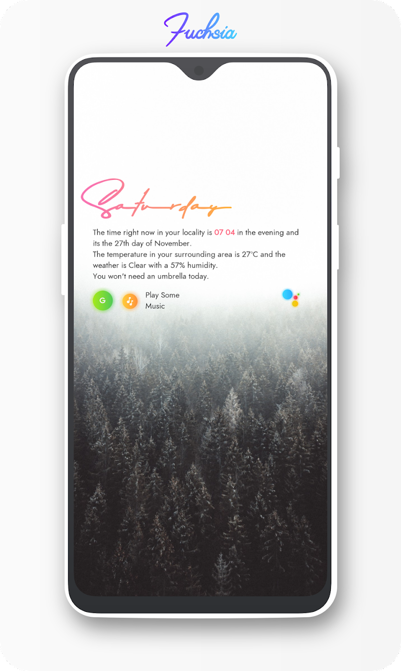 Fuchsia KWGT - Gradient Based Widgets Screenshot 2