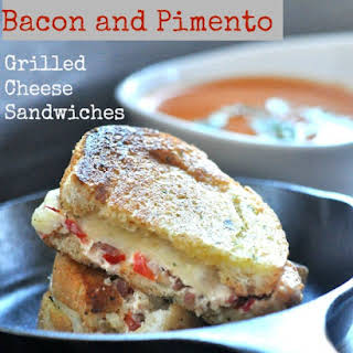 Bacon and Pimento Grilled Cheese Sandwiches.