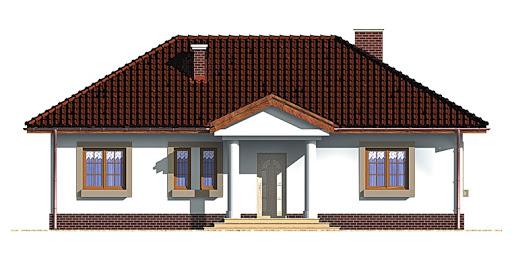 Dom przy Klonowej - Elewacja przednia