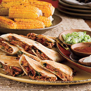 Barbecued Pork Quesadillas.