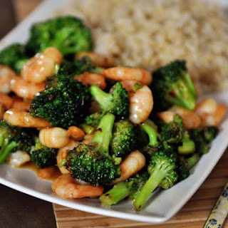 Stir-Fried Broccoli with Brown Rice {Meat Optional}