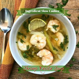 5-Ingredient Slow Cooker Shrimp Fajita Soup.