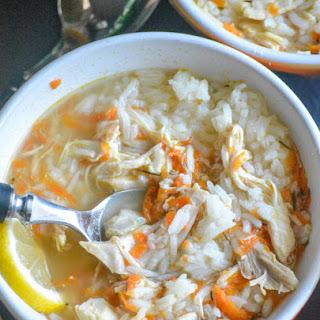 Copy Cat Taziki's Greek Lemon Chicken Soup.