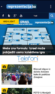 Reprezentacija.ba- screenshot thumbnail