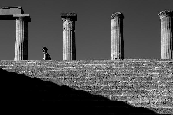 Acropolis of Lindos di Silvio Lorrai