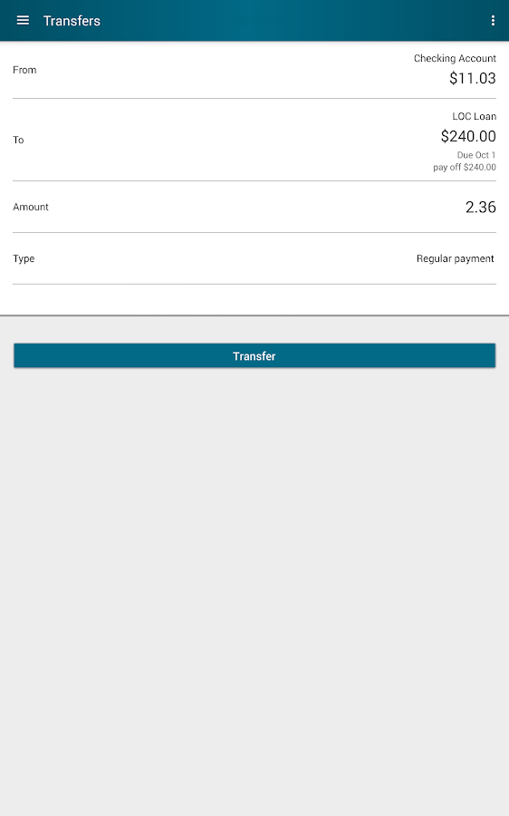 Arsenal Credit Union- screenshot