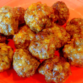 Sausage, Beef, & Cheese Meatball Snackers