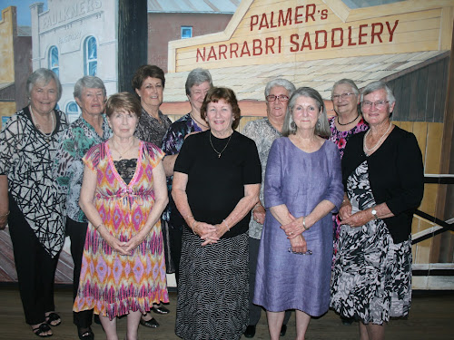 Some of those who attended the reunion were, back, Robyn Wangmann, Janet Coleman, Joan Williams, Penny Moss, Pat Woods, Helen Cain, front, Helen Scheerer, Margaret Stoltenberg, Heather Broatch and Deris Brooks.