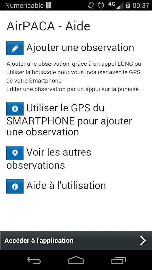Signalement Air- screenshot