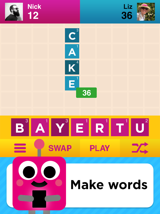 Two Words - 2 player word game- screenshot