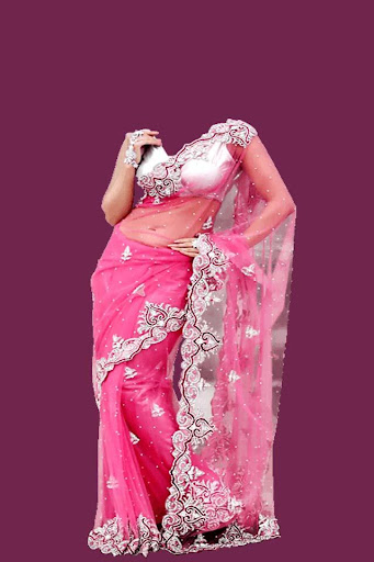 Women Net Saree Photo Maker