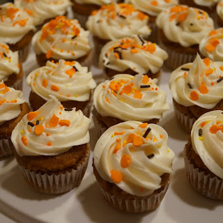 Easiest Ever Pumpkin Cupcakes with Cream Cheese Frosting