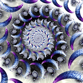 Spiral 28 by Cassy 67 - Illustration Abstract & Patterns ( wormhole, abstract art, swirl, wallpaper, digital art, spiral, fractal, digital, fractals )