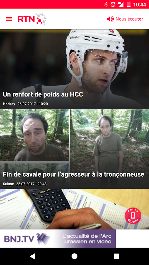 RTN – Capture d'écran