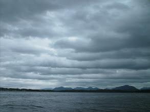 Photo: Looks like rain as I approach Shearwater.