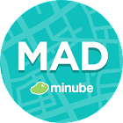 Madrid Travel Guide in English with map icon