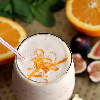 Creamy Orange And Fig Smoothie.