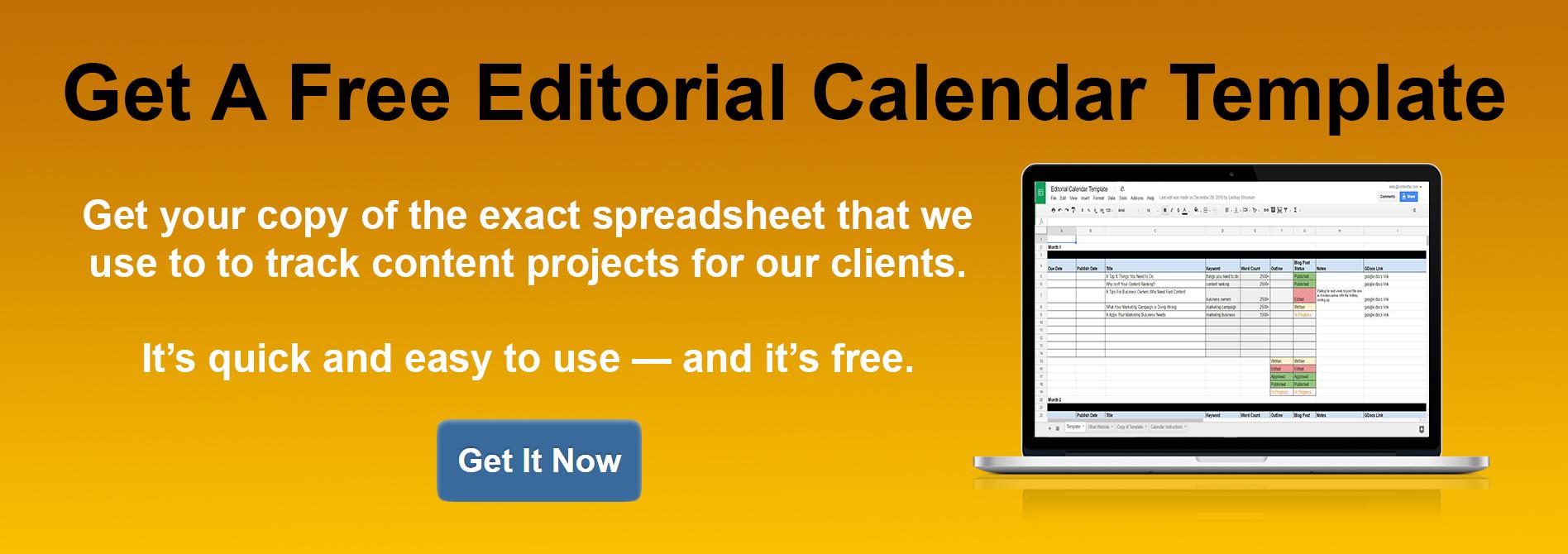 How To Develop A Blog Content Calendar Free Template Download - Blog content calendar template