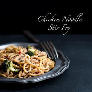 Sesame Lime Cilantro Chicken Noodle Stir Fry