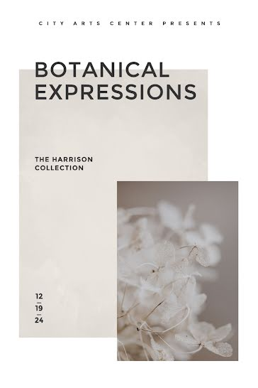 Botanical Expressions - Postcard template