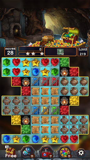 Jewel Mine Quest: Match-3 puzzle apkmr screenshots 3