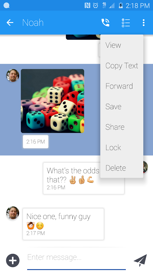 Material Messaging- screenshot