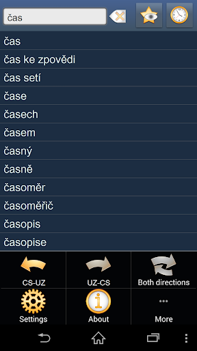 Czech Uzbek dictionary