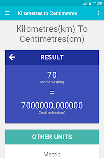 Kilometres to Centimetres - náhled