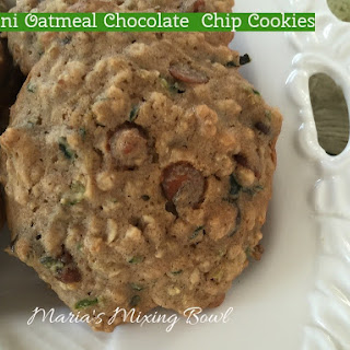 Zucchini Oatmeal Chocolate Chip Cookies.