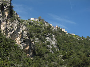 Photo: Looking back up at Eze ...