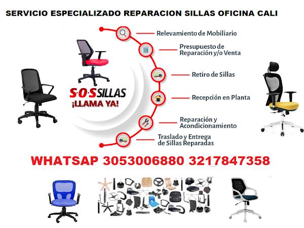 REPARACION DE SILLAS OFICINA MANTENIMIENTO EN CALI