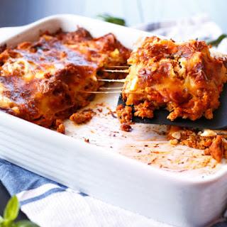 Chicken Pumpkin and Ricotta Lasagna.