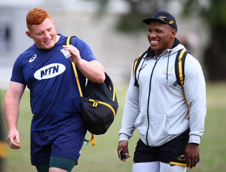 Western Province Springboks players Steven Kitshoff (L) and Bongi Mbonambi (R) are available for the Currie Cup match at home to the Griquas at Newlands on Saturday September 22 2018 after helping SA overcome New Zealand in the Rugby Championship.