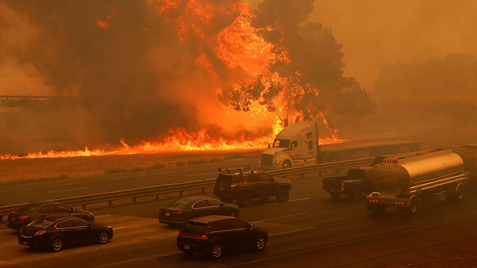 Wildfires in the cities of California