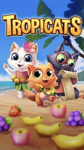 Tropicats: Un Jeu de Chat Gratuit Match 3 Puzzle  captures d'écran 6