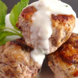Spiced Lamb Meatballs With Lemon Mint Yogurt Sauce.
