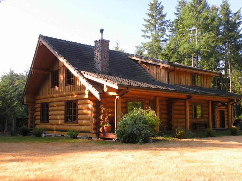 Piękny dom z bali