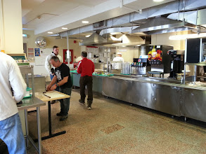 Photo: Breakfast - cafeteria style at the mess hall