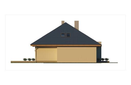 Alabama 2 wersja C z pojedynczym garażem - Elewacja lewa
