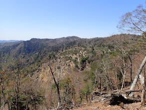 先程通過した伐採崩壊地