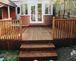 stairs made of composite decking