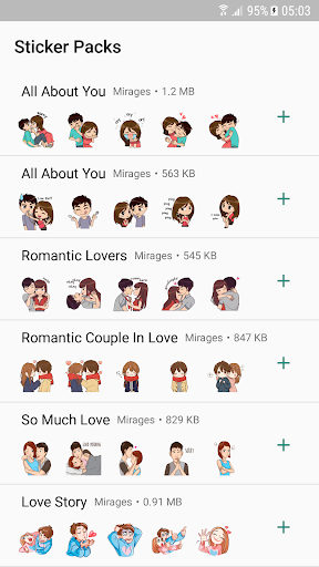 Love Story Stickers - WAStickerApps Apk 1