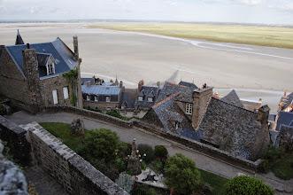 Photo: BRETANYA 2013. MONT SAINT-MICHEL (Normandia ). comença a pujar la marea
