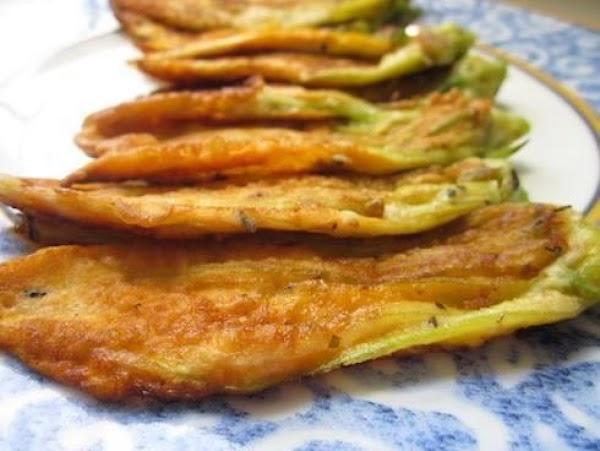 Zucchini Blossom Fritters-frittelle Di Fiori Di Zu Recipe